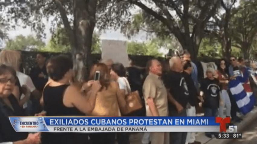 CUBANOS PROTESTAN MIAMI
