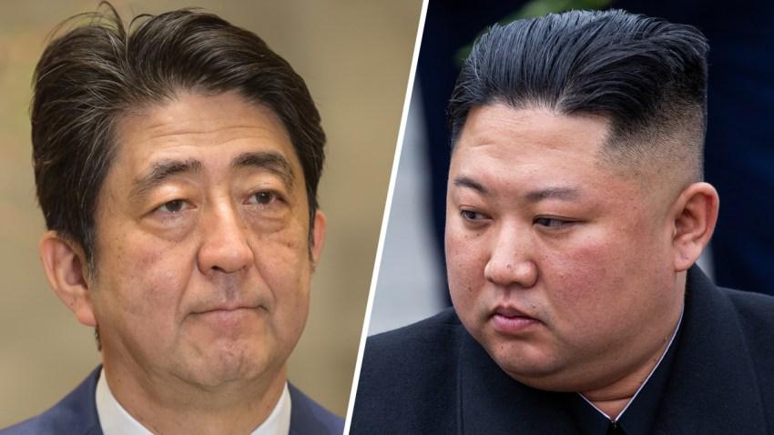 Combo-Shinzo-Abe-Kim-Jong-un-SHUTTERSTOCK