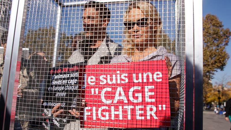 Pamela-Anderson-Protesta-Jaula-Paris-Animales-EFE