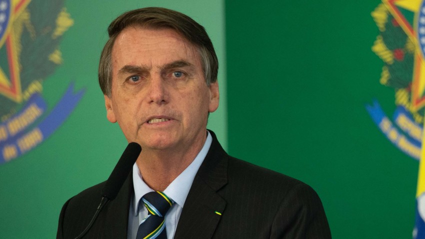 President Bolsonaro Holds a Press Conference with Juan Guaido