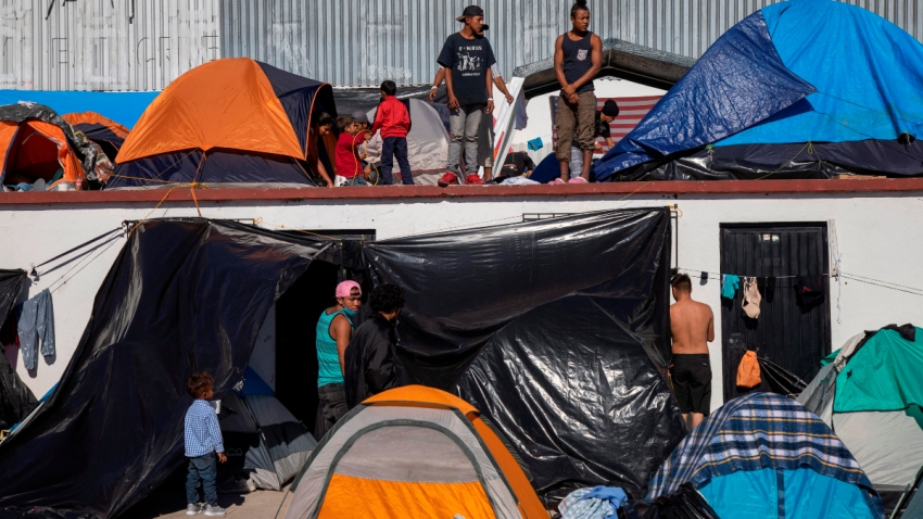 Albergue de migrantes en Tijuana