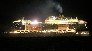 Crucero detenido en Cozumel