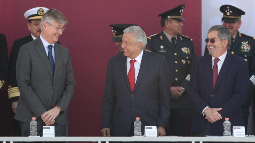 Representantes de ONU y México en inauguración de centro de paz.