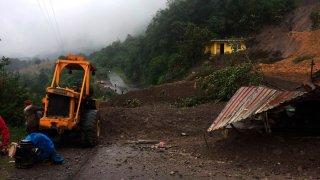 Deslaves por lluvias en Veracruz