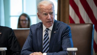 President Biden in a cabinet meeting.