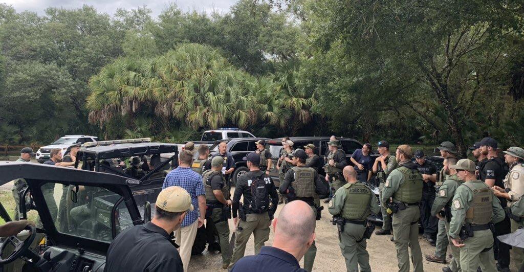 Search crew at Florida wildlife reserve