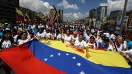 Opositoras venezolanas marchan contra gobierno