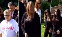 Familiares y amigos llegan a la iglesia St. Brendan para darle el último adiós al estelar lanzador de los Miami Marlins José Fernández.