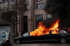 Actos vandálicos opacan primer día del presidente Trump