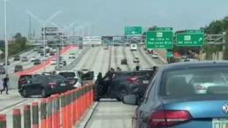 Accidente múltiple en la I-95 causa caos vehicular