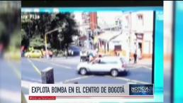 Captan en video mortal explosión en la capital colombiana