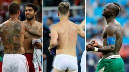 """Los """"desnudos"""" del Mundial, sin camiseta...y hasta sin pantalones"""