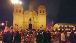 Se incendia iglesia en Perú