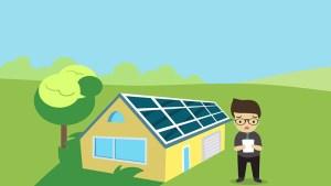 Paneles solares en la casa