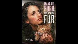 Penélope Cruz protagoniza campaña contra uso de pieles