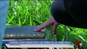 Se roban lápidas de las tumbas de los cementerios en Venezuela