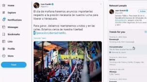Guaidó hará importante anuncio al pueblo