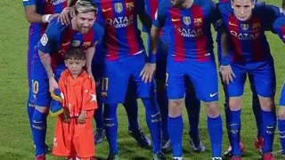 Niño afgano fanático de Messi conoce a su ídolo