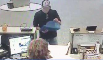 Buscan a hombre que robó un banco
