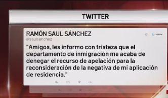 Niegan residencia a Ramón Saúl Sánchez