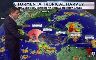 Se forma la tormenta tropical Harvey
