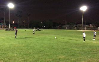 Video desde las canchas: tiro libre y gol