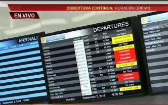 Aeropuerto de FLL cierra por posibles efectos de Dorian