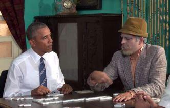 Obama aparece jugando dominó en video humorístico