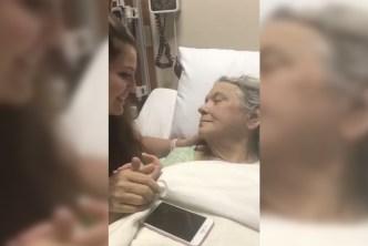 Conmovedor: enfermera le canta a paciente moribunda