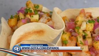 Tacos de Camarones y Piña