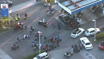 Motociclistas causan caos en las calles de Miami