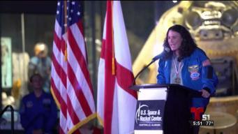 Al espacio la primera astronauta de origen cubano