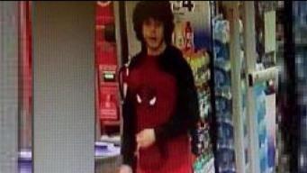 Arrestado por robar una tienda vestido de hombre araña