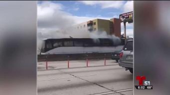 Se incendia un bus con 59 pasajeros en plena I95