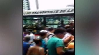 Filas por crisis del transporte público en Cuba