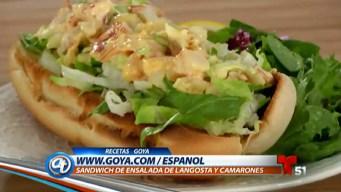 Sandwich de Ensalada de Langosta y Camarones