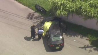 Hombre presuntamente baleado dentro de un auto