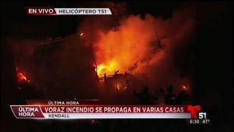 Incendio en viviendas en Kendall