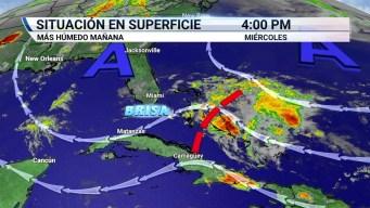 Disturbios en Bahamas traería clima húmedo a Florida