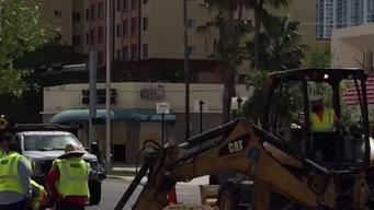 Polémica en reparaciones de la calle West Flagler