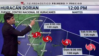 ¿Por dónde entraría el peligroso huracán Dorian?