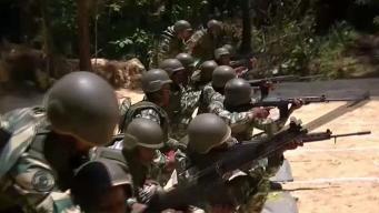 Prácticas militares de milicias venezolanas
