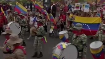 Protestan en Venezuela contra medidas de EEUU