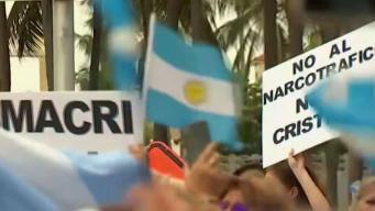 Argentinos protestan en Miami por elecciones en su país