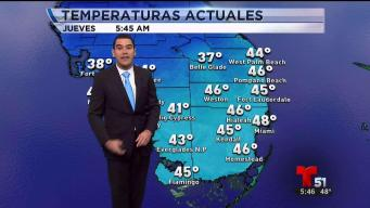 Temperaturas bajan al rango de los 40 grados