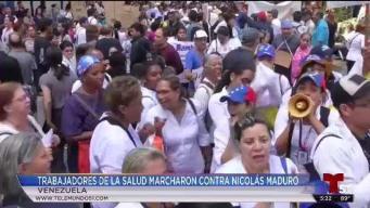 Trabajadores de la salud marchan contra Maduro por escasez de medicamentos