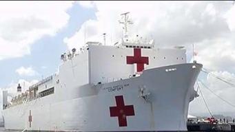 Buque hospital sale de Miami para ayudar a venezolanos