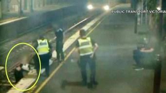 A un segundo de la muerte: rescate en vías del metro