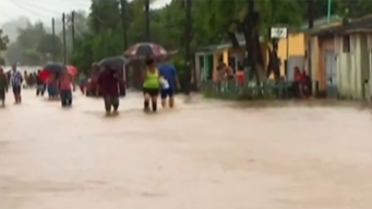 Inundaciones en Cuba por intensas lluvias