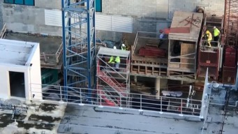 Sufre descarga eléctrica trabajador de construcción